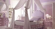 Mor Ve Lila Renklerle Yatak Odası Dekorasyonu