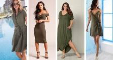 Haki Yeşil Kıyafet Modelleri