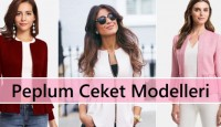 Peplum Ceket Modelleri