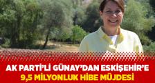 Günay'dan Eskişehir'e 9.5 Milyonluk Hibe Müjdesi